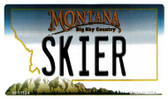 Skier Montana State License Plate Novelty Wholesale Magnet M-11124