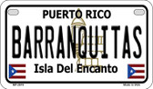 Barranquitas Puerto Rico State Wholesale Motorcycle License Plate MP-2819