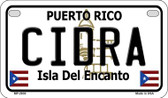 Cidra Puerto Rico State Wholesale Motorcycle License Plate MP-2830