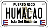 Humaco Puerto Rico State Wholesale Motorcycle License Plate MP-2845