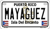 Mayaguez Puerto Rico State Wholesale Motorcycle License Plate MP-2859
