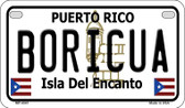 Boricua Puerto Rico State Wholesale Motorcycle License Plate MP-4341