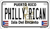 Philly Rican Puerto Rico State Wholesale Motorcycle License Plate MP-5032