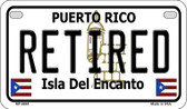 Retired Puerto Rico State Wholesale Motorcycle License Plate MP-6865