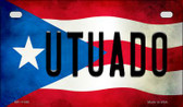 Utuado Puerto Rico State Flag License Plate Wholesale Motorcycle License Plate MP-11386