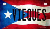 Vieques Puerto Rico State Flag License Plate Wholesale Motorcycle License Plate MP-11389