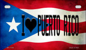 I Love Puerto Rico Puerto Rico State Flag License Plate Wholesale Motorcycle License Plate MP-11409