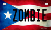 Zombie Puerto Rico State Flag License Plate Wholesale Motorcycle License Plate MP-11411