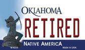 Retired Oklahoma State License Plate Novelty Wholesale Magnet M-6224