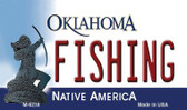 Fishing Oklahoma State License Plate Novelty Wholesale Magnet M-6238