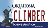 Climber Oklahoma State License Plate Novelty Wholesale Magnet M-6246