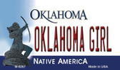 Oklahoma Girl Oklahoma State License Plate Novelty Wholesale Magnet M-6267