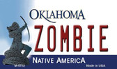 Zombie Oklahoma State License Plate Novelty Wholesale Magnet M-6752