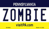 Zombie Pennsylvania State License Plate Wholesale Magnet M-6699