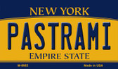 Pastrami New York State License Plate Wholesale Magnet M-8963
