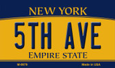 5th Ave New York State License Plate Wholesale Magnet M-8979