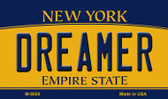 Dreamer New York State License Plate Wholesale Magnet M-9000