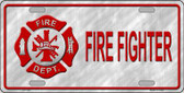 Firefighter Wholesale Metal Novelty License Plate LP-334