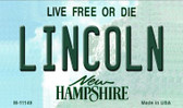 Lincoln New Hampshire State License Plate Wholesale Magnet M-11149