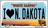 I Love N Dakota State License Plate Wholesale Magnet M-10701