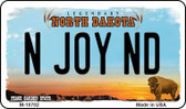 N Joy ND North Dakota State License Plate Wholesale Magnet M-10702
