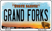 Grand Forks North Dakota State License Plate Wholesale Magnet M-10705