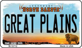Great Plains North Dakota State License Plate Wholesale Magnet M-10712