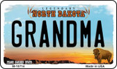 Grandma North Dakota State License Plate Wholesale Magnet M-10714