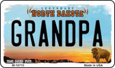 Grandpa North Dakota State License Plate Wholesale Magnet M-10715