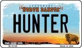 Hunter North Dakota State License Plate Wholesale Magnet M-10728