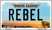 Rebel North Dakota State License Plate Wholesale Magnet M-10733