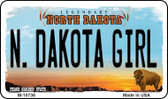 N Dakota Girl State License Plate Wholesale Magnet M-10736