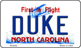 Duke North Carolina State License Plate Wholesale Magnet M-6462
