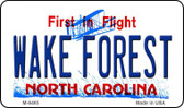 Wake Forest North Carolina State License Plate Wholesale Magnet M-6465
