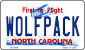 Wolfpack North Carolina State License Plate Wholesale Magnet M-6466