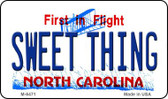 Sweet Thing North Carolina State License Plate Wholesale Magnet M-6471