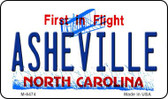 Asheville North Carolina State License Plate Wholesale Magnet M-6474