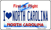 I Love North Carolina State License Plate Wholesale Magnet M-6489