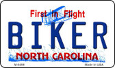 Biker North Carolina State License Plate Wholesale Magnet M-6499
