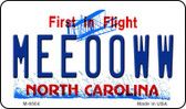 Meeooww North Carolina State License Plate Wholesale Magnet M-6504