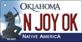 N Joy OK Oklahoma State License Plate Novelty Wholesale Key Chain KC-6227