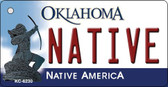 Native Oklahoma State License Plate Novelty Wholesale Key Chain KC-6230