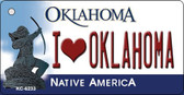 I Love Oklahoma State License Plate Novelty Wholesale Key Chain KC-6233