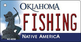 Fishing Oklahoma State License Plate Novelty Wholesale Key Chain KC-6238