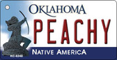 Peachy Oklahoma State License Plate Novelty Wholesale Key Chain KC-6248