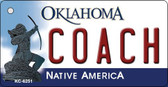 Coach Oklahoma State License Plate Novelty Wholesale Key Chain KC-6251