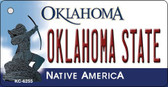 Oklahoma State License Plate Novelty Wholesale Key Chain KC-6255