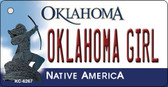 Oklahoma Girl Oklahoma State License Plate Novelty Wholesale Key Chain KC-6267