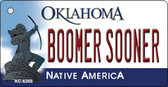 Boomer Sooner Oklahoma State License Plate Novelty Wholesale Key Chain KC-6268
