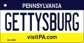 Gettysburg Pennsylvania State License Plate Wholesale Key Chain KC-6051